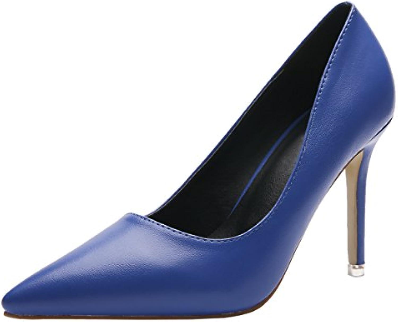 Tacón alto Puntiagudo Zapatos Mujer Suave Trabajo Stiletto Fiesta Zapatos de tacón De BIGTREE -