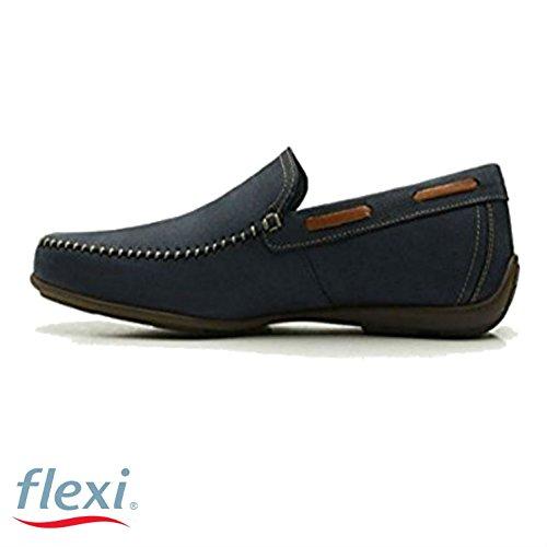 Flexi Shoes Mocassini Uomo Blu Blue 40 EU Blue