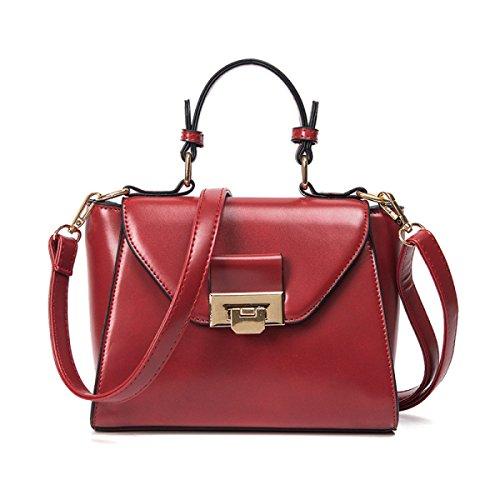 WU Zhi Primavera Signora Piccola Borsa Quadrata Spalla Messenger Bag Red