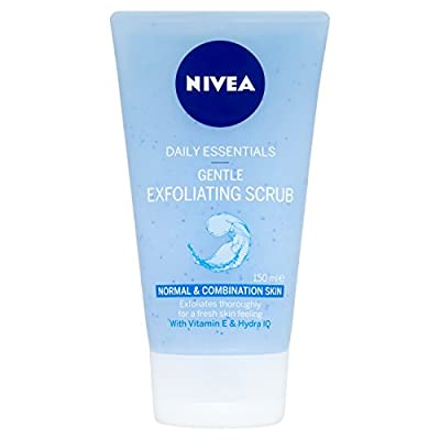 Nivea Daily Essentials Gentle Exfoliating Face Scrub, 150 ml - Pack of 3 from Beiersdorf UK Ltd