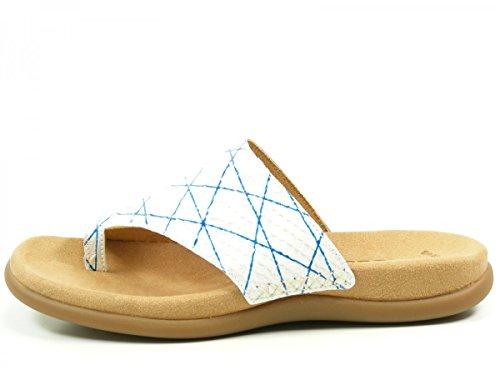 Gabor 43-700 Snake Schuhe Damen Pantoletten Dianetten Zehentrenner, Schuhgröße:36;Farbe:Blau