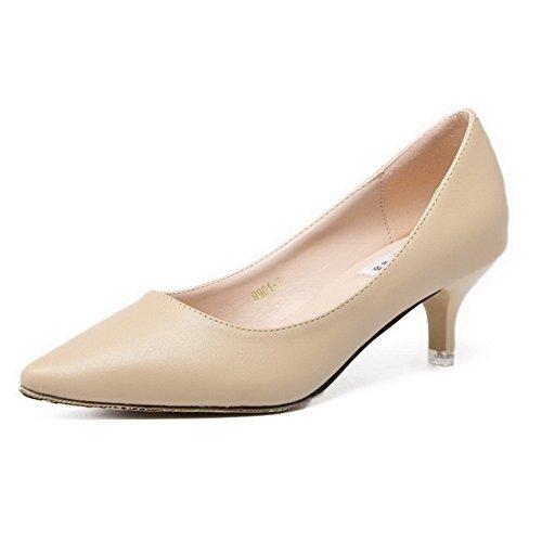 aalardom-womens-pointed-closed-toe-pu-pull-on-kitten-heels-pumps-shoes-nude-crack-pattern-39