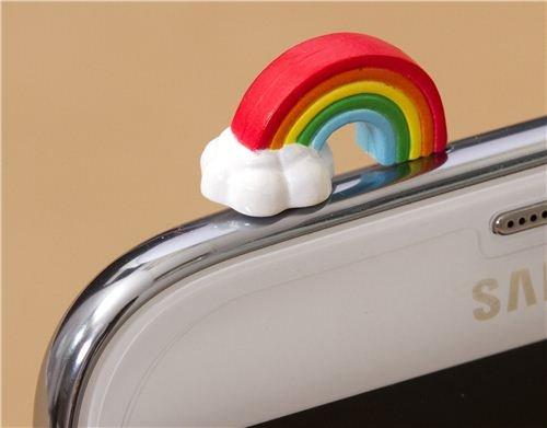 süßer Regenbogen Handy Stöpsel Kopfhörer Stecker Schmuck