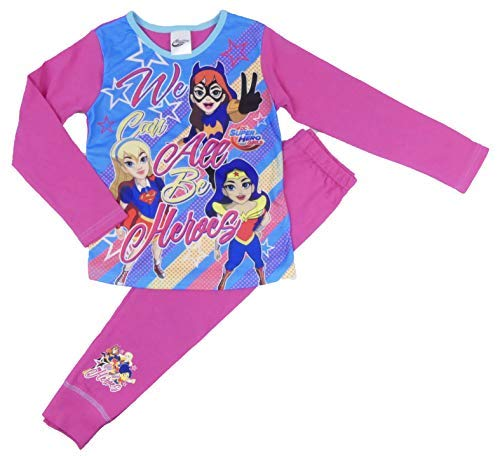 Mädchen Pyjamas DC Super Hero Mädchen Wonder Woman Super Mädchen 4-5 to 9-10 Years - Rosa, 122-128