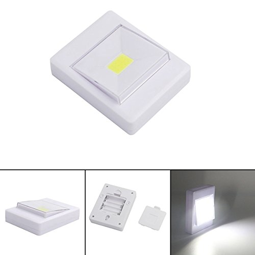 ILS - Mini COB LED Wall Switch Night Light for Closet Magnetic Battery Operated Camping Emergency Lamp - Emergency Light Switch