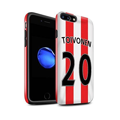 Offiziell Sunderland AFC Hülle / Glanz Harten Stoßfest Case für Apple iPhone 7 Plus / Rodwell Muster / SAFC Trikot Home 15/16 Kollektion Toivonen