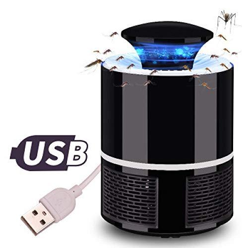 Homthing Mückenlampe USB-Mückenschutz LED-Mückenschutz Keine Strahlung zu Hause Schlafzimmer sicher ungiftig physikalische Abwehrmittel@Schwarz