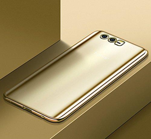 """Coque Huawei Honor 9 (5.15""""), MSVII® TPU Souple Transparent Bumper Coque Etui Housse Case et Protecteur écran Pour Huawei Honor 9 (5.15"""") - Bleu JY60063 Or"""