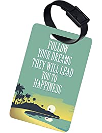The Crazy Me Follow Your Dreams They Will Lead You To Happiness Luggage Tag(Set OF 2 )