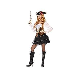 Atosa-53971 Disfraz Pirata, Color Blanco, XL (53971