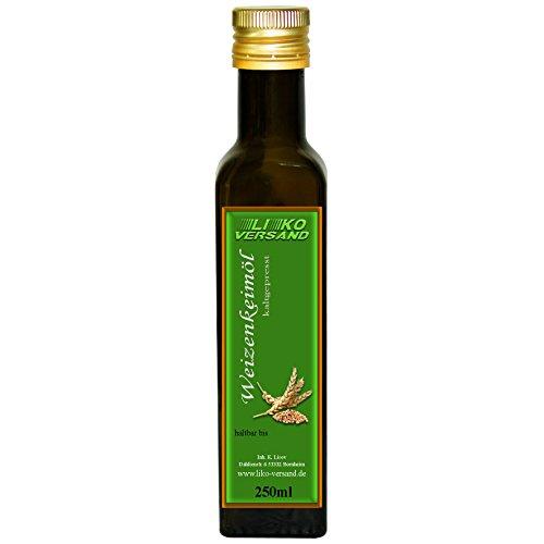 Weizenkeimöl kaltgepresst nativ Speiseöl Kosmetiköl 250 ml (4,00€/100ml)