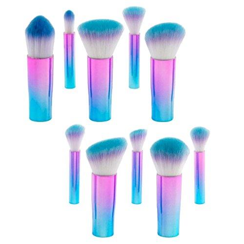 MagiDeal 10 Stücke Mini Make-up Pinsel Set Schminkpinsel für Puder und Flüssiger Cremiger...