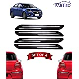Fabtec Rubber Car Bumper Protector Guard with Double Chrome Strip for Maruti Swift Dzire 4Pcs Black