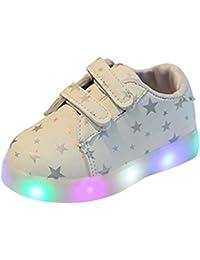 LED flash zapatos de bebe, K-youth® Zapatos deportivos Otoñales Luces LED Zapatillas deportivas Niños Calzado infantil Zapatos para bebe zapatilla de deporte antideslizante