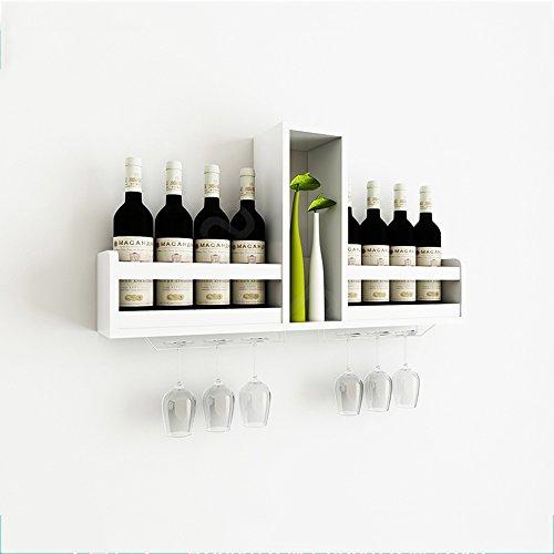 Porta bottiglie da vino feifei wine rack materiale di bordo artificiale moderno creativo a parete ristorante espositore calici rack selezione multi-colore (colore : bianca)