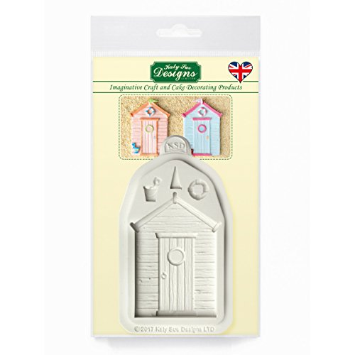 Beach Hut Silicone Mould for Cake Decorating, Cupcakes Sugarcraft, Candies and Clay, Food Safe 58 Chocolate Mold