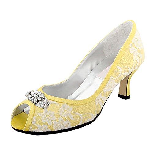 Minitoo , Chaussures de mariage tendance femme Jaune