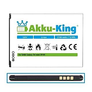 Akku-King Akku ersetzt Samsung EB-B500BE, EB-B500BU - Li-Ion 2100mAh - für Galaxy S4 Mini GT-i9192, GT-i9195, GT-i9198