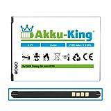 Akku-King Akku für Samsung Galaxy S4 Mini GT-i9192, GT-i9195, GT-i9198 - ersetzt EB-B500BE, EB-B500BU - Li-Ion 2100 mAh