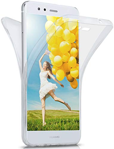 MoEx Cover Fronte-Retro in Silicone Compatibile con Huawei P10 Lite | Trasparente, Trasparente