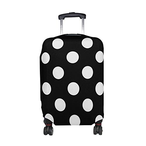 ALAZA Lunar blanco clásico Negro cubierta del equipaje adapta a 22-24 pulgadas maleta de viaje Spandex protector