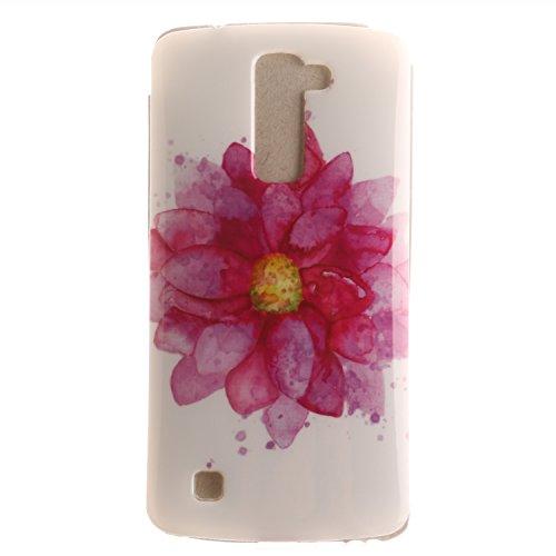 LG K10 Case, BONROY® LG K10 Fashion colorful pattern Case Bumper Transparent Soft Gel Shockproof Case Resist Protection Shell for LG K10 Test