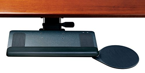 Humanscale 900 Standard Keyboard Tray System w/ 2G Arm mechanism, 12R Right Mouse, and Gel Palm Rest by Humanscale - Pull-out Keyboard Tray