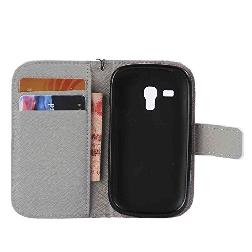 Guran® PU Leder Tasche für Apple iPhone 6 / 6S (4,7 Zoll) Smartphone Flip Deckung Stehen Funktion und Karte Slot Case-Löwenzahn -Mädchen color9