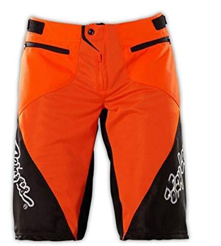 BINGFENG Herren Mountainbike Bike Shorts Fahrrad MTB Shorts Loose Fit Radfahren Baggy Leichte Hose Mit Reißverschlusstaschen Atmungsaktiv Und Verschleißfest Red-S