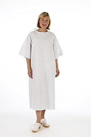 Robe de chambre fournie par l'hôpital pour les patients avec fermeture dans le dos - Mixte
