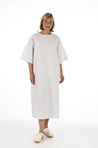Unisex PATIENT GOWN - Wrap Around Style - Hospital Supplied