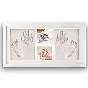 nimaxi baby bilderrahmen mit gipsabdruck gr e 41x23cm. Black Bedroom Furniture Sets. Home Design Ideas