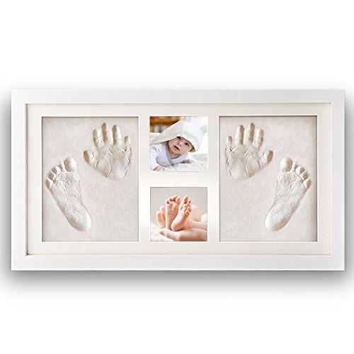 NIMAXI marco de fotos para bebé para huella de mano y pie 3D, Portafotos de...