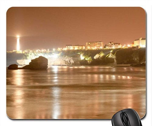 biarritz lighthouse in france Mouse Pad, Mousepad (Lighthouses Mouse Pad)