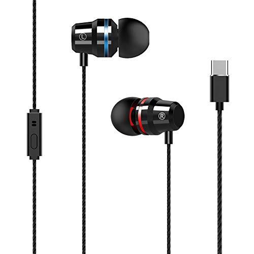 QINPIN Hot Metal Earphones intelligente menschliche Ohr typ mit weizen Handy Headset Type-C draht steuerkopfhörer
