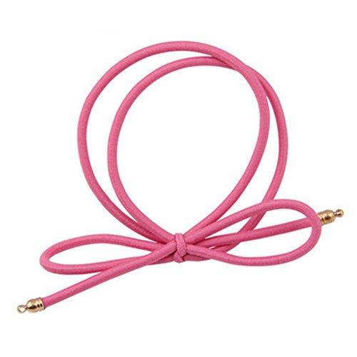 8PCS Elastiques cheveux queue de cheval titulaires Accessoires cheveux, Rose