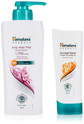 Himalaya Herbals Anti Hair Fall Shampoo, 700ml with Free Damage Repair Protien Conditioner, 200ml  available at amazon for Rs.360