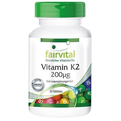 Vitamine K2 - Vitamine K2 200µg - 60 comprimés -