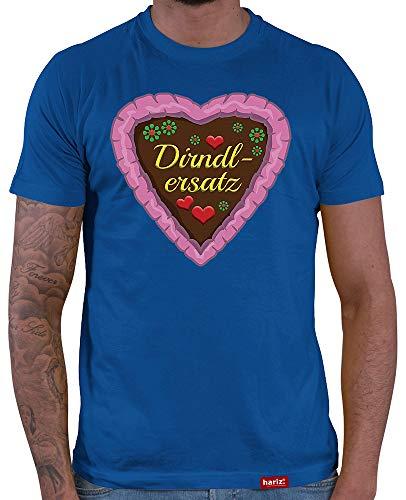 HARIZ  Herren T-Shirt Dirndlersatz Lebkuchen Oktoberfest Wiesn Herzl Tracht Dirndl Lederhose Inkl. Geschenk Karte Royal Blau M (Lebkuchen Mann Kostüme)
