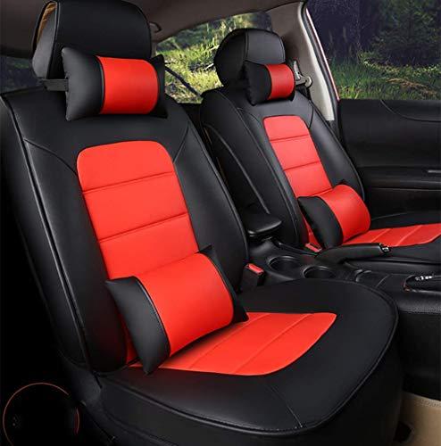 Phcom Autositzbezüge für die meisten Geländewagen von Limousinen - Passgenau für den Hyundai Elantra Sonata Tucson Accent Mazda6 Cx5, Schwarz + Kaffee,Schwarz + rot