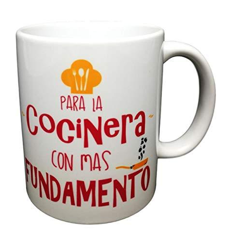 MISORPRESA Taza Frase para LA COCINERA con MAS FUNDAMENTO Regalo para COCINERA COCINILLAS.Taza Original