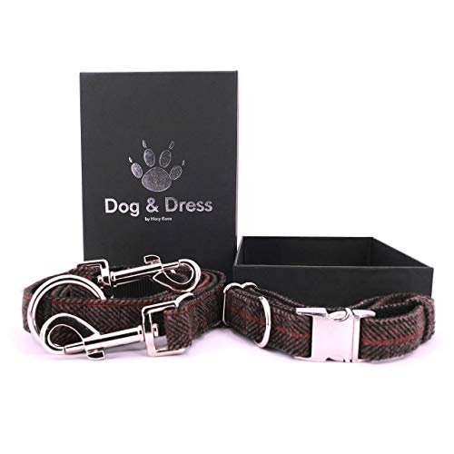 Dog & Dress by Nacy Kena Hundeleine und Hundehalsband Set (Einheitsgröße 30-50 cm)