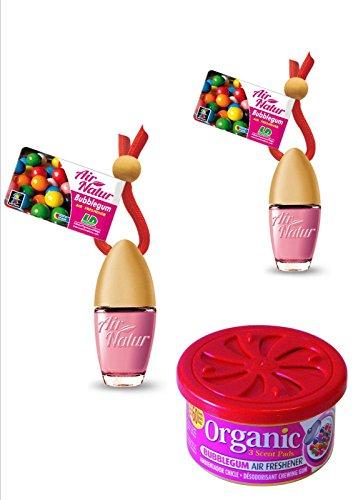 Bubble Gum Aroma Juego de 2Elegante Moderna Air Natural Little Bottle frascos de ambientador Auto de aire y ambientador 6ml + 1Organic Can Aroma aromática