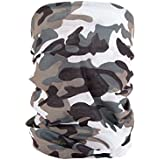 Foulard multifonction sans couture en forme de tube, tour de coup morf écharpe multi-usage multi-scraf Près de 10 produits en 1: Bandeau, bonnet, bandana, cagoule, attache-cheveux femme fille ALSINO