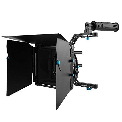 Fotga DP3000 M4 DSLR Swing Away Matte Box Kits mit Top Griff für alle Kamera Rigs mit 15 mm Rod Systemen -