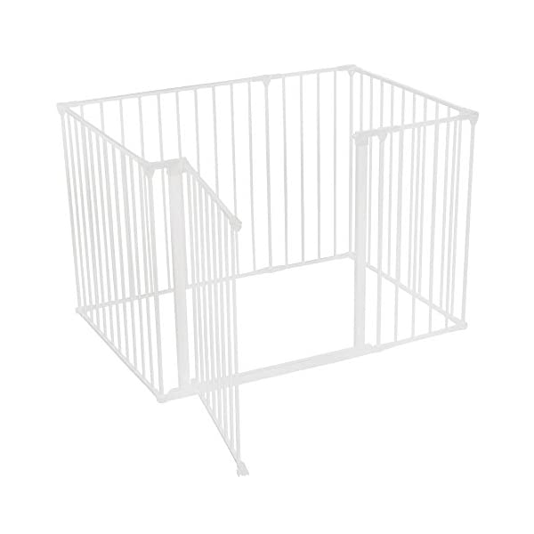 Safetots Play Pen (White, 72cm x 105 cm) Safetots The perfect solution for keeping baby in a safe area whilst they rest and play Includes 1x 72cm Gate Opening Panel, 2x 33cm Panels and 3x 72cm Panels Extra wide door section for easy access 2