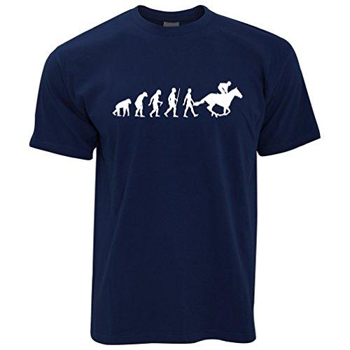 Tim And Ted Hobby Herren T-Shirt Evolution of Reiten Reit Bridle Racing
