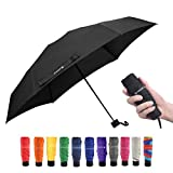 Travel Compact Umbrella Mini & Lightweight for Backpack/Purse/Pocket Fits Adults & Kids (000-Black)