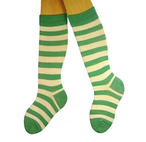 Baby Knee-High-Socks-Calze in lana, con anelli Avorio (Rib Socks)