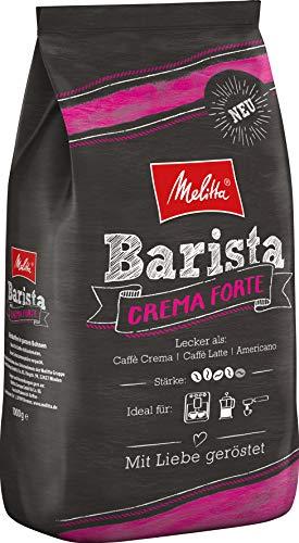 Melitta Barista Ganze Kaffeebohnen, kräftig und vollmundig, kräftiger Röstgrad, Stärke 4, Crema...